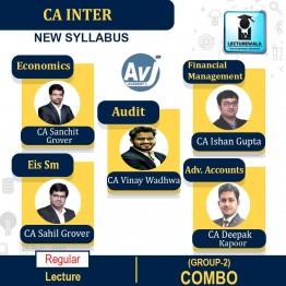 CA Inter Group-2 Combo Regular Course: Video Lectures + Study Materials by CA Sanchit Grover, CA Sahil Grover, CA Ishan Gupta, CA Deepak Kapoor & CA Vinay Wadhwa (For May 2021 & Nov. 2021)