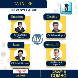CA Inter Group-1 Combo Regular Course: Video Lectures + Study Materials by CA Sanchit Grover, CA Sahil Grover, CA Ishan Gupta & CA Deepak Kapoor (For May 2021 & Nov. 2021)