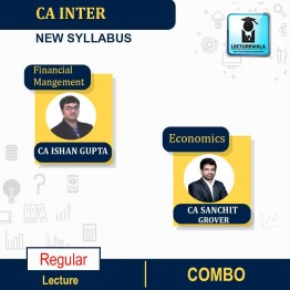 CA Inter FM & ECO.  Regular Course: Video Lectures + Study Materials by CA Sanchit Grover & CA Ishan Gupta (For May 2021 & Nov. 2021)
