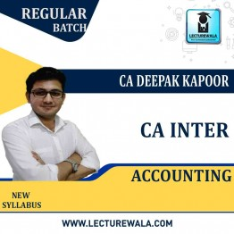 CA Inter Accounting Regular Course: Video Lectures + Study Materials by CA Deepak Kapoor (For May 2021 & Nov. 2021)
