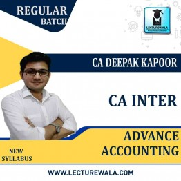 CA Inter Advance Accounting Regular Course: Video Lectures + Study Materials by CA Deepak Kapoor (For May 2021 & Nov. 2021)