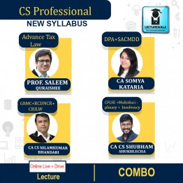 CS Professional Combo -  (DPA + ATL + GCRMCE + RCDNCR +SACMDD + CRILW +CFLSE +MCS + Insolvency ) Online Live Batch New Syllabus : Video Lecture + Study Material by Inspire Academy (For June-21, Dec-21)