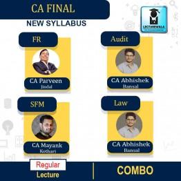 CA Final Group 1 Combo (Law + Audit + SFM + FR) New Syllabus : Video Lecture + Study Material By CA Parveen Jindal, CA Abhishek Bansal and CA Mayank Kothari  (For Nov.2021 & May 2022)