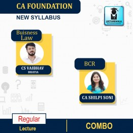 CA Foundation Business Correspondence Reporting And Business Law Regular Course Combo : Video Lecture + Study Material By CA Shilpi Soni & CS Vaibhav Bhatia (For May 2021 & Onwards)