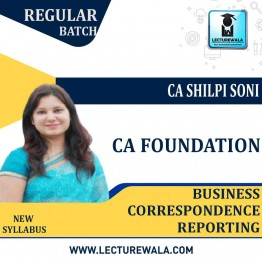 CA Foundation Business Correspondence Reporting Regular Course : Video Lecture + Study Material By CA Shilpi Soni (For May 2021 & Onwards)