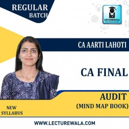 CA Final Audit Mind Map Book (1st Edition) : Study Material By CA Aarti Lahoti (For May 2021 & Nov. 2021)