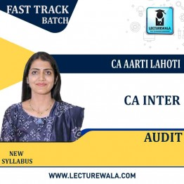 CA Inter Audit And Assurance Crash Course In English : Video Lecture + Study Material By CA Aarti Lahoti (For May 2021 & Nov. 2021)