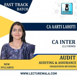 CA Inter Audit And Assurance Marathon Revision In English : Video Lecture + Study Material By CA Aarti Lahoti (For May 2021 & Nov. 2021)