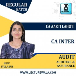 CA Inter Audit And Assurance (1.5 / 3 Views) Regular Course In English : Video Lecture + Study Material By CA Aarti Lahoti (For Nov. 2020, May 2021 & Nov. 2021)
