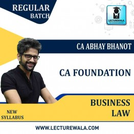 CA Foundation Business Law Regular Course : Video Lecture + Study Material By CA Abhay Bhanot (For May 2021 TO NOV.2021)