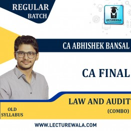 CA Final Audit & Laws Old Syllabus Combo :  By CA Abhishek Bansal (For May 2021 TO NOV.2021)