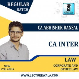 CA Inter Corporate and Other Law  : Video Lecture + Study Material by CA Abhishek Bansal (For May.2021TO NOV. 2021)