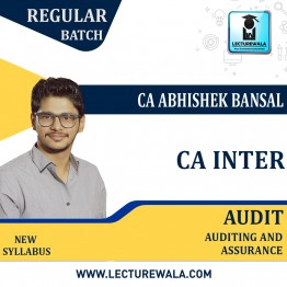 CA inter Auditing & Assurance : Video Lecture + Study Material by CA Abhishek Bansal (For May.2021/Nov. 2021)