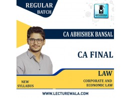 CA Final Corporate & Economic Laws by CA Abhishek Bansal (For May.2021 and Nov. 2021)