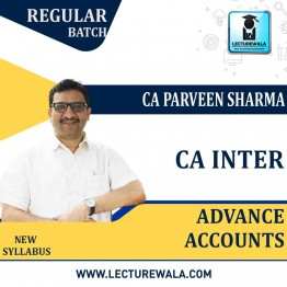 CA Inter Advance Accounting LIVE BATCH Pre-Booking  Regular Course : Video Lecture + Study Material By CA Praveen Sharma (For May / Nov. 2021)