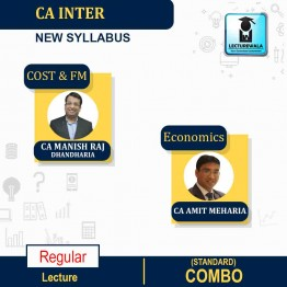 CA Inter/Ipcc Cost, Financial Management (FM) And Economics Regular Course (Standard) : Video Lecture + Study Material By CA Manish Dhandharia And CA Amit Meharia (For May 2021 & Nov. 2021)