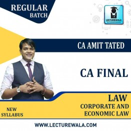 CA Final Corporate And Economic Law Regular Course : Video Lecture + Study Material by CA Amit Tated (For May / Nov. 2021 )