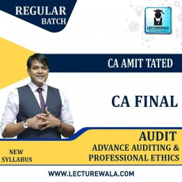 CA Final Audit Regular Course : Video Lecture + Study Material by CA Amit Tated (For May. 2021)