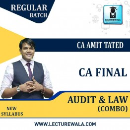 CA Final Audit And Law Combo Regular Course : Video Lecture + Study Material by CA Amit Tated (For May / Nov. 2021)