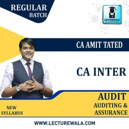 CA inter Audit Regular Course : Video Lecture + Study Material by CA Amit Tated (For May 2021)