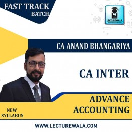 CA Inter Advance Accounts Crash Course : Video Lecture + Study Maretial By CA Anand Bhangariya (For MAY 2021 & NOV 2021)