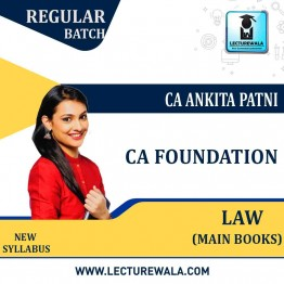 CA Foundation Paper-2 Law New Syllabus : Main Books By CA Ankita Patni (For May 2021 TO NOV.2021)