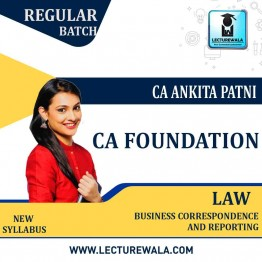CA Foundation Paper-2: Law With BCR Regular Course  : Video Lecture + Study Material By CA Ankita Patni (For May 2021 & Nov. 2021)