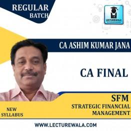 CA Final SFM Regular Course In English By CA Ashim Kumar Jana (For May 2021)
