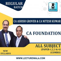 CA Foundation All Subject Combo Regular Course : Video Lecture + Study Material By AKN CA Classes (TM) (For May 2021)