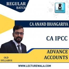 CA Ipcc Advance Account Regular Course : Video Lecture + Study Material By CA Anand Bhangariya (For  May 2021 & Nov. 2021)