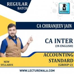CA Inter Group-2 Accounting Standard (In English) Regular Course : Video Lecture + Study Material By CA Chiranjeev Jain (For NOV 2021 & MAY 2022)
