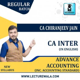 CA Inter Advance Accounting (Inc. Accounting Standard) Regular Course : Video Lecture + Study Material By CA Chiranjeev Jain (For May 2021)
