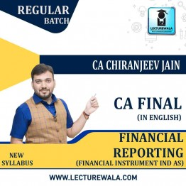 CA Final Financial Reporting IND AS With Financial Instrument Full Course : Video Lecture + Study Material By CA Chiranjeev Jain (For NOV 2021 & Onwards Exams)