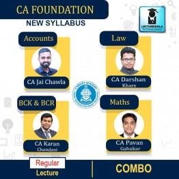 CA Foundation All Subject Combo : by CA Karan Chandani, CA Pavan Gahukar, CA Jai Chawla & CA Darshan Khare (For May 2021 & Nov. 2021)
