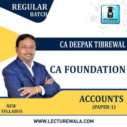 CA Foundation Accounts Regular Course : Video Lecture + Study Material By CA Deepak Tibrewal  (For May 2021)