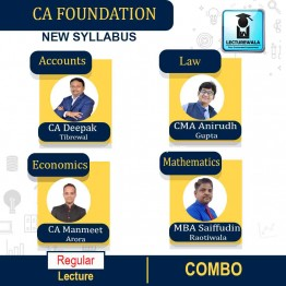 CA Foundation All Subject Combo Regular Course : Video Lecture + Study Material By CA Deepak Tibrewal, CA Manmeet Arora, CMA Anirudh Gupta & MBA Saiffudin Raotiwala (For May 2021 & Onwards)