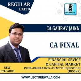 CA Final FSCM + Sebi Regulation + Practice Question (Vol. 1,2,3)  Book : BY CA Gaurav Jain  (For MAY 2021 & Nov. 2021)