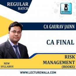 CA Final Elective Paper 6A Risk Management (Vol. 1 & Vol. 2) New Syllabus Book : BY CA Gaurav Jain  (For May 2021 & Nov.2021)