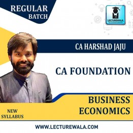 CA Foundation Economics Regular Course : Video Lecture + Study Material By CA Harshad Jaju (For May 2021 & Nov. 2021)