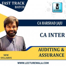 CA Inter Audit Crash Course : Video Lecture + Study Material By CA Harshad Jaju (For May 2021 & Nov. 2021)