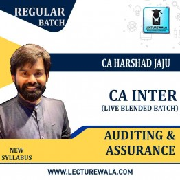 CA Inter Gr-II Auditing And Assurance Online Live Blended Batch Regular Course : Video Lecture + Study Material By CA Harshad Jaju (For May 2021 & Nov. 2021)