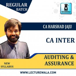 CA Inter Audit Regular Course : Video Lecture + Study Material By CA Harshad Jaju (For May 2021 & Nov. 2021)