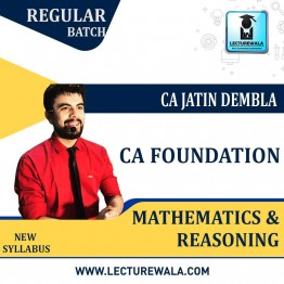 CA Foundation Maths Full Colored Book : Study Material By CA Jatin Dembla (For May 2021)