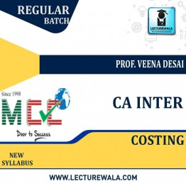 CA Inter Costing Regular Course: Video Lectures + Study Materials by Prof. Veena Desai (For May 2021)