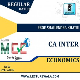 CA Inter Economics Only Regular Course: Video Lectures + Study Materials by Prof. Shailendra Khatri (For May 2021)