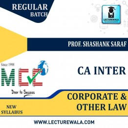 CA Inter Corporate & Other Law Regular Course: Video Lectures + Study Materials by Prof. Shashank Saraf (For May 2021)