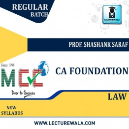 CA Foundation Law  Regular Course: Video Lectures + Study Materials by Prof. Shashank Saraf  (For May 2021)