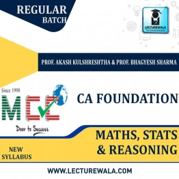 CA Foundation Maths Stats & Reasoning Regular Course: Video Lectures + Study Materials by Prof. Akash Kulshreshtha  & Prof. Bhagyesh Sharma  (For May 2021)