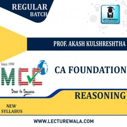 CA Foundation Reasoning Regular Course: Video Lectures + Study Materials by Prof. Akash Kulshreshtha (For May 2021)