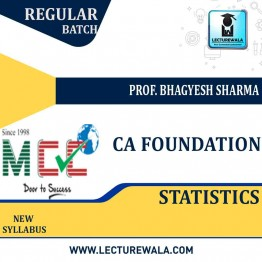 CA Foundation Statistics Regular Course: Video Lectures + Study Materials by Prof. Bhagyesh Sharma  (For May 2021)